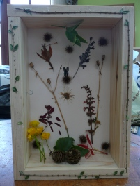 example of a completed shadow box
