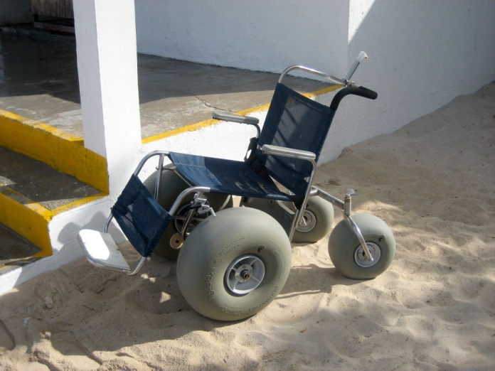 Sand chair on beach