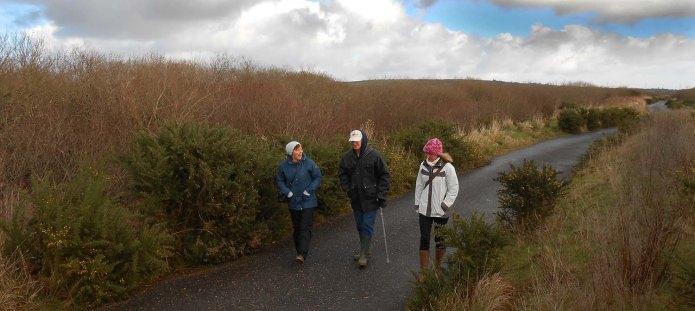 walkers on Goss Moor