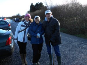 Walkers ready for walking on Goss Moor