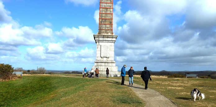walkers at bodmin beacon