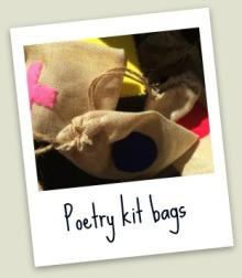 poetry kit hand made bag