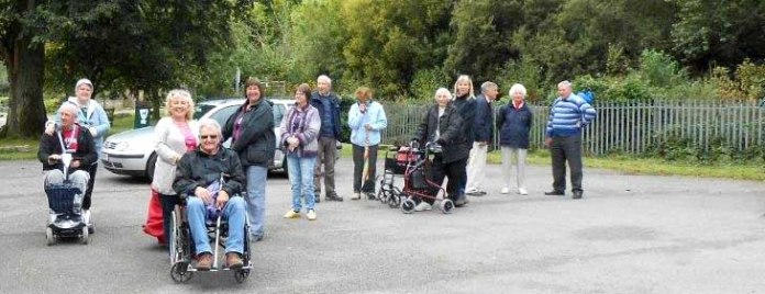 Sensory Trust dementia friendly group prepares for a walk