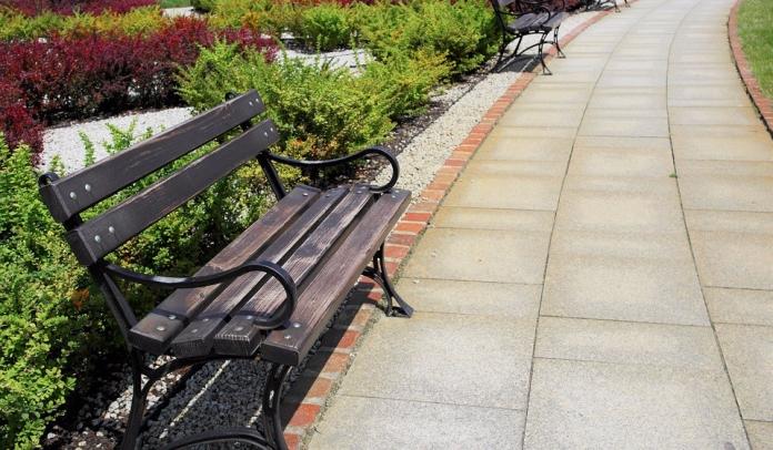 garden-path-bench